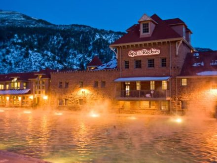Glenwood Hot Springs at Twilight